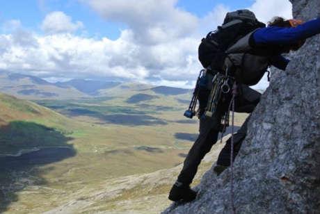Rock climbing in galway